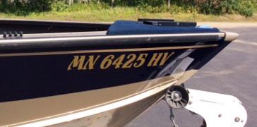 Boat Lettering - Minnesota