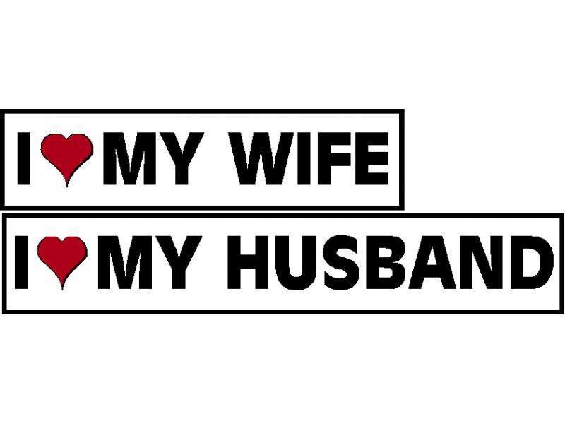 I Love My Wife Or I Love My Husband Decal
